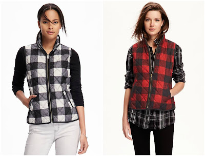 Old Navy Quilted Plaid Vest $17 (reg $37)