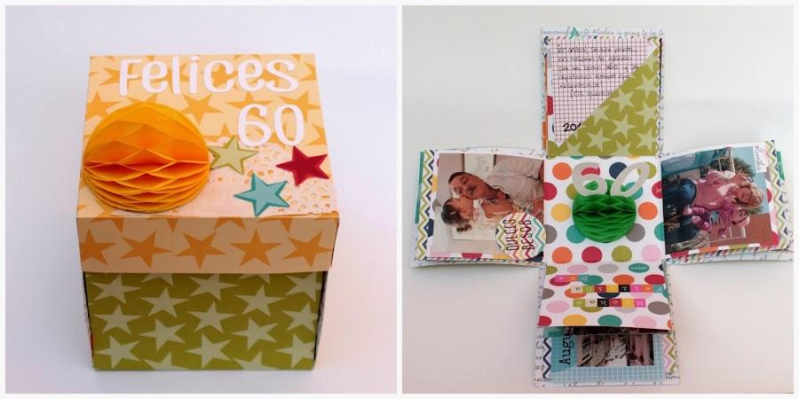 Caja explosiva el regalo perfecto manualidades - Caja decorada con fotos ...