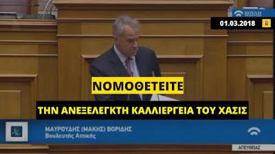 Μάκης Βορίδης: Το 2018 κατήγγειλε το νομοσχέδιο για την κάνναβη, το 2020 «αποτελεί πολιτική επιλογή της κυβέρνησης της ΝΔ»