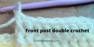 front post double crochet close-up