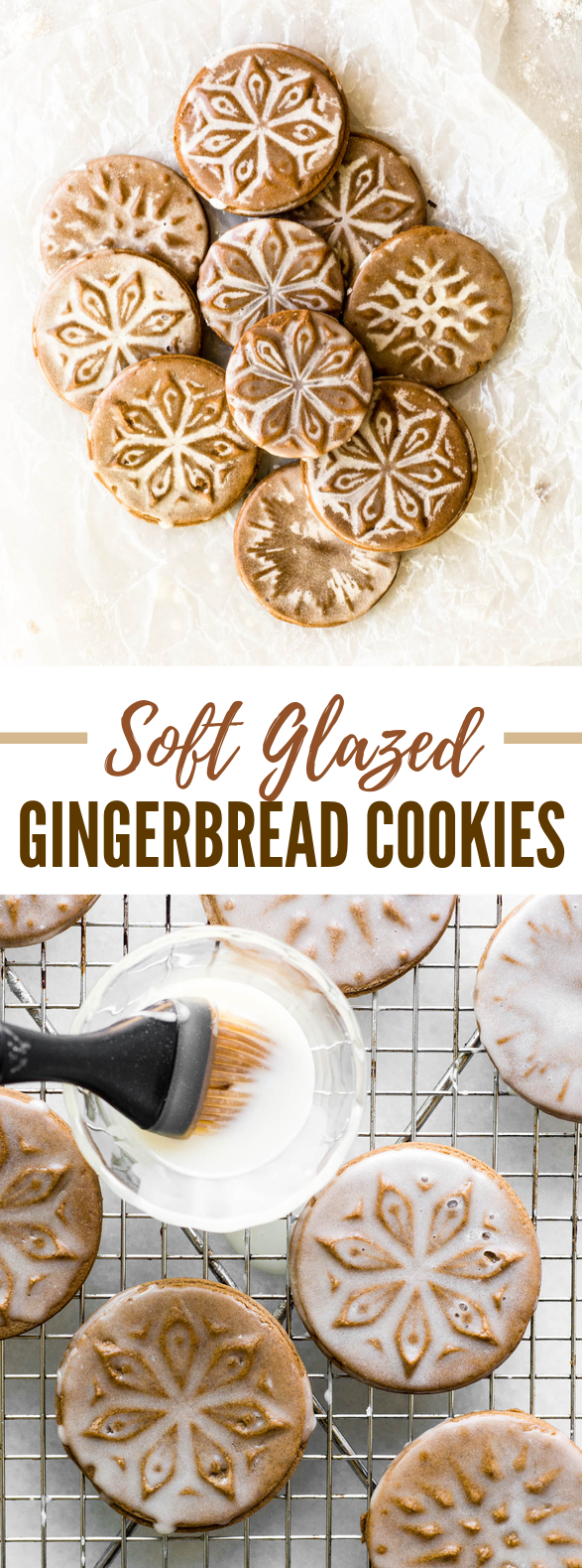 SOFT GLAZED GINGERBREAD COOKIES #desserts #treats