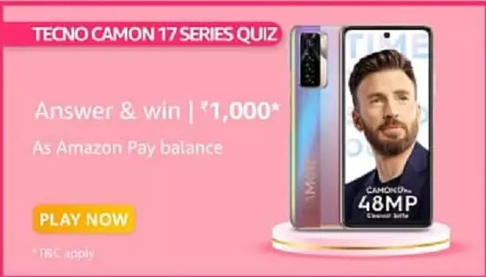 What is the refresh rate of Camon 17 Series?