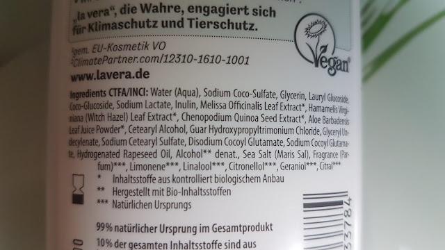 Inhaltsstoffe Lavera Basis Sensitiv Feuchtigkeit & Pflege Pflegeshampoo