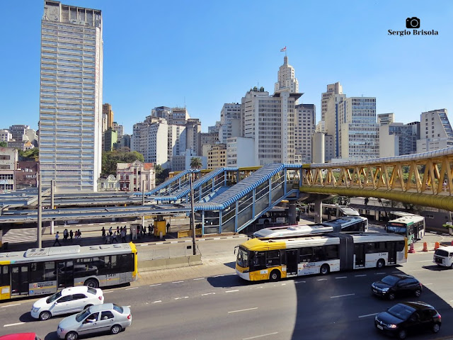 Vista de parte do Terminal Parque Dom Pedro II - Centro Histórico de São Paulo