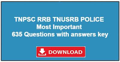 tnpsc rrb tnusrb important study material