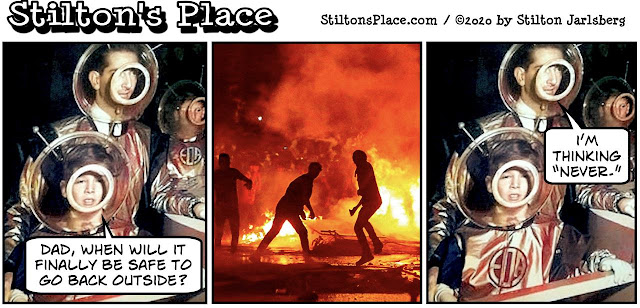 stilton's place, stilton, political, humor, conservative, cartoons, jokes, hope n' change, george floyd, riots, race, coronavirus, trump