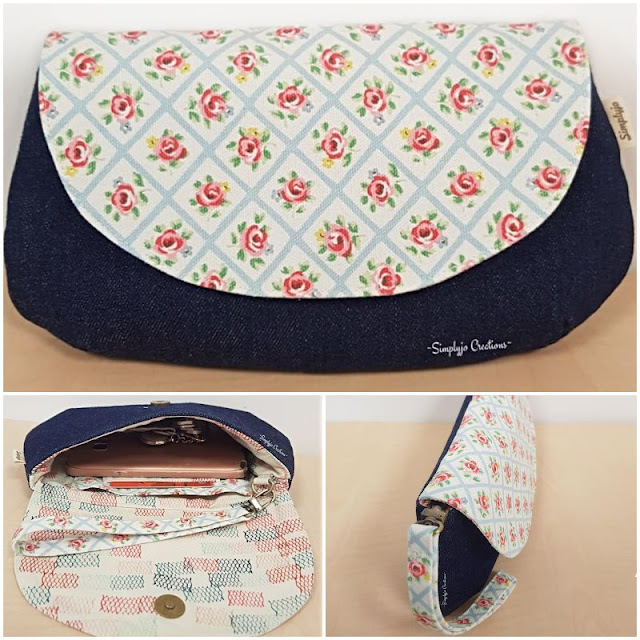 purse sewing pattern for denim
