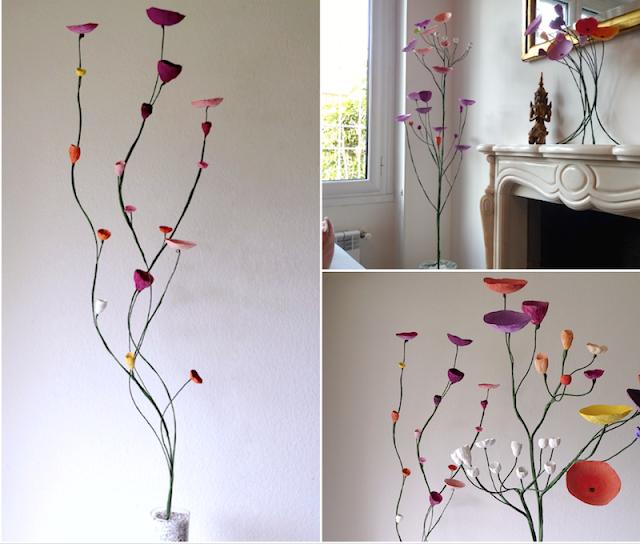 Grandi composizioni con fiori di carta, matrimoni e decorazione casa