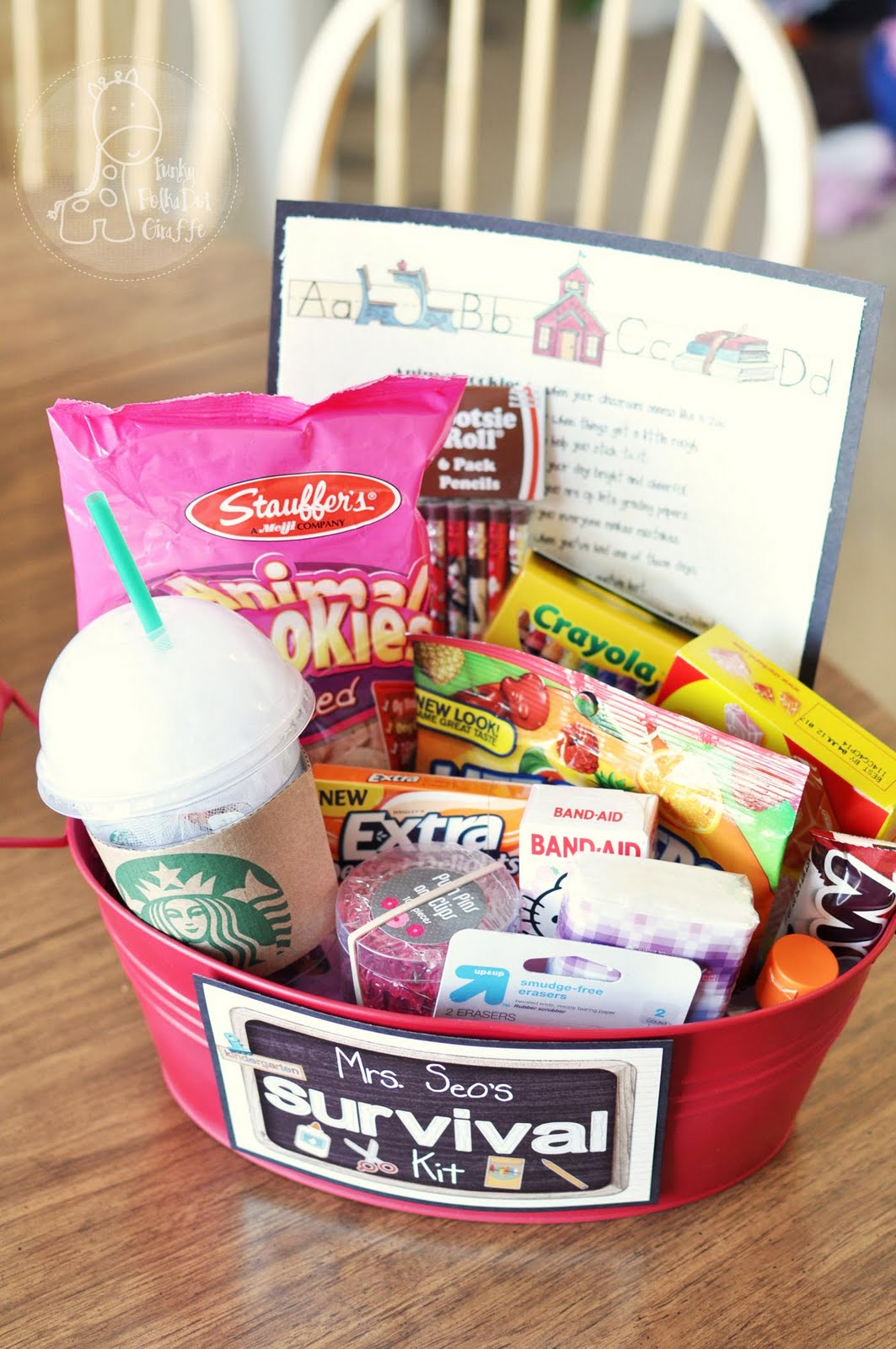 Gift Packaging Ideas Back To School Teacher Survival Kit
