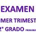 EXAMEN PRIMER TRIMESTRE 2° PRIMARIA CICLO ESCOLAR 2018-2019