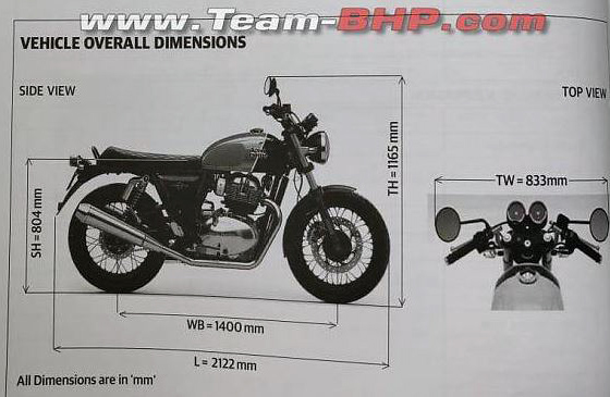 Specifications for new Royal Enfield Interceptor 650.