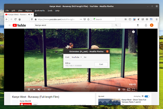 fx_cast YouTube Firefox Chromecast