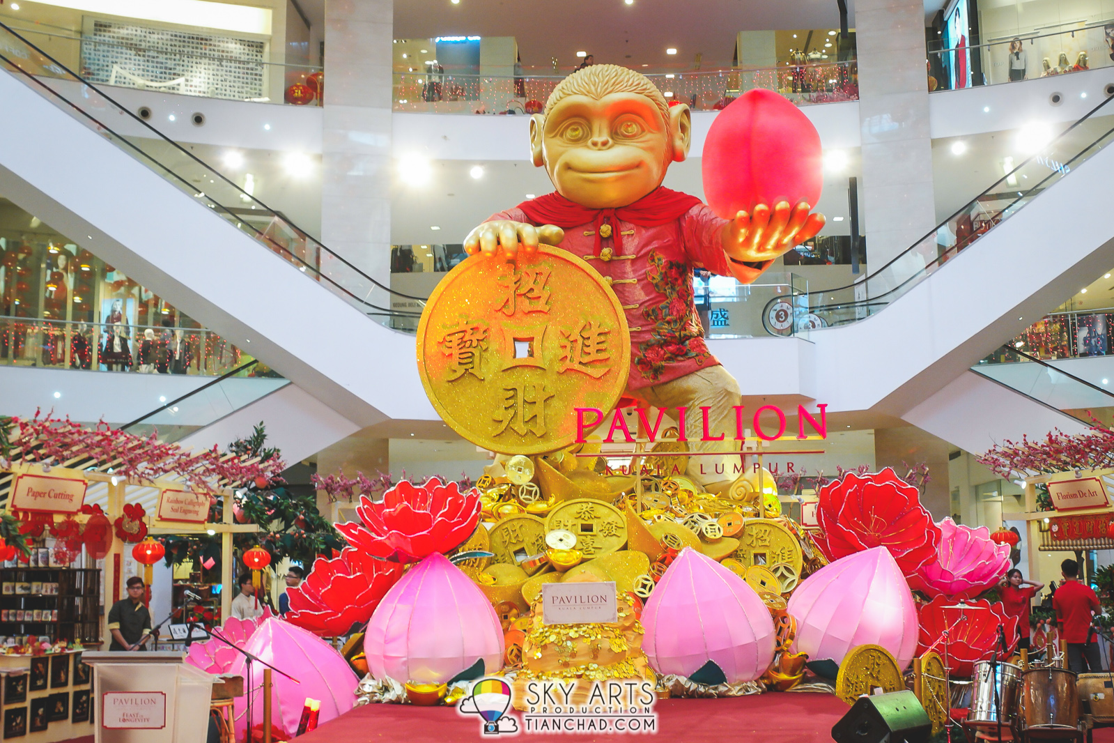Pavilion KL 2016 Chinese New Year Decoration - Auspicious ...