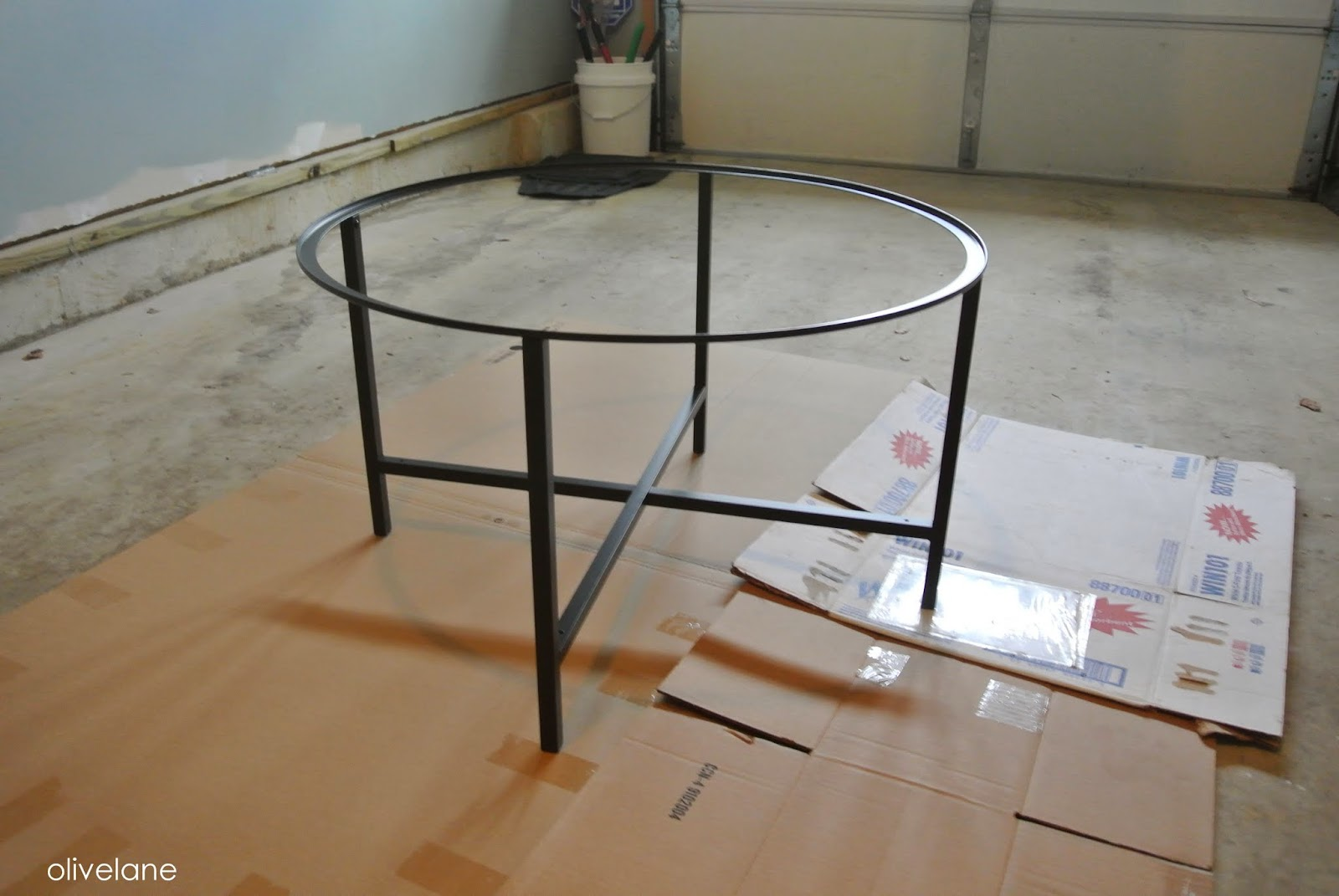 Olive lane ikea hack vittsjo coffee table for Happy color spray paint price