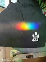 Rainbow on black