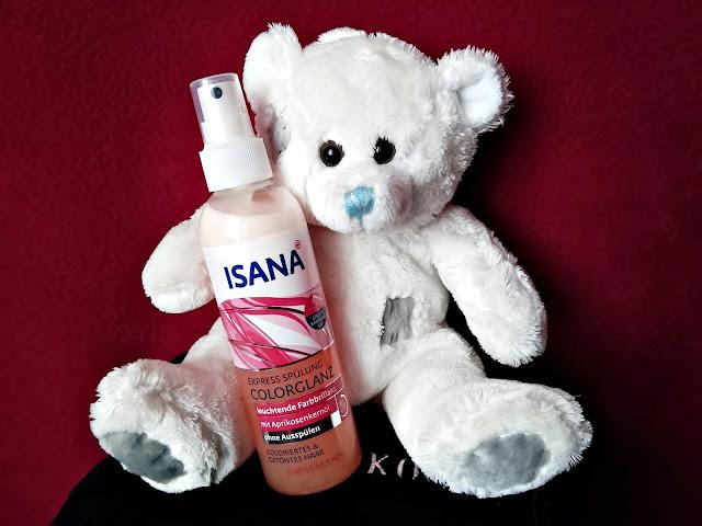 Isana, Express Spülung, Colorglanz - Odżywka ekspresowa do włosów farbowanych i z pasemkami