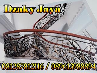 model railing tangga besi tempa, railing tangga klasik, railing tangga besi ulir (8)