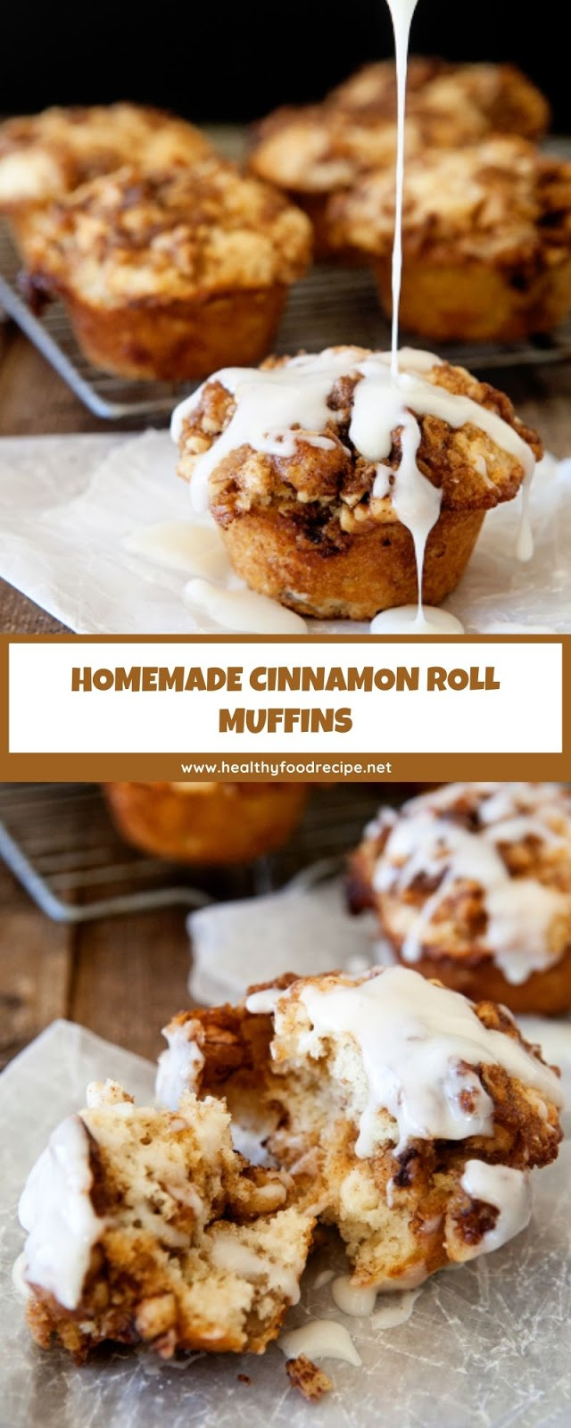 HOMEMADE CINNAMON ROLL MUFFINS
