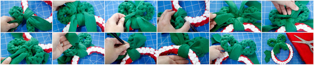 DIY homemade Christmas wreath dog tug toy, step-by-step how to make