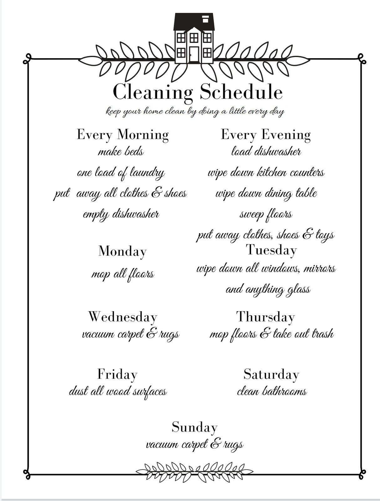 Oscar Bravo Home Keep Your House Clean By Using A Cleaning Schedule Plus Free Printable,Faux Brick Panels For Kitchen Backsplash