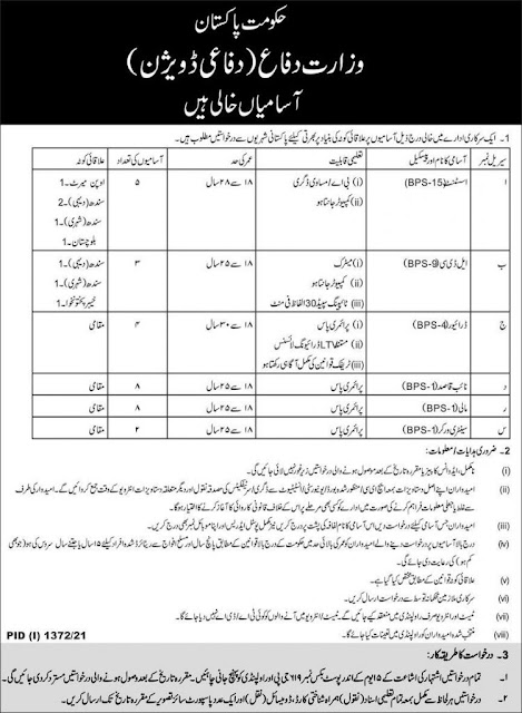 Ministry of Defence Jobs 2021 - New Jobs 2021