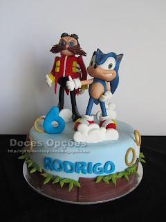 O Sonic e o Doctor Eggman no 6º aniversário do Rodrigo
