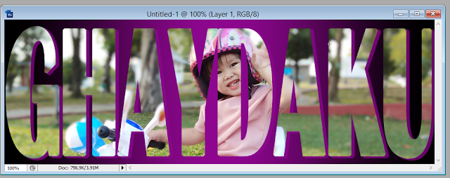 7 Cara Sederhana dan Sangat Mudah Menyisipkan Photo/Gambar Kedalam Teks Menggunakan Photoshop