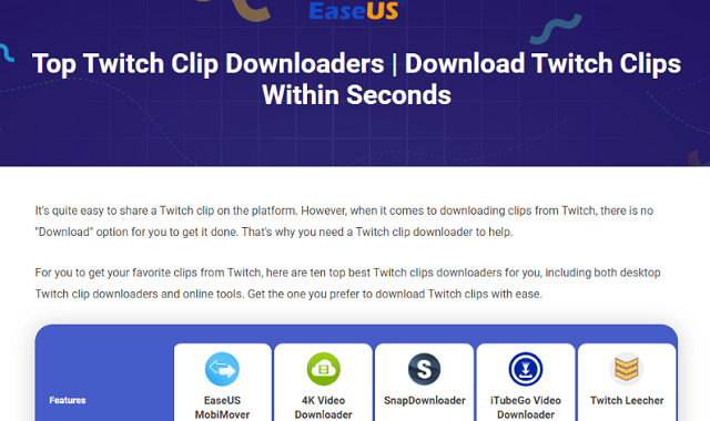 Top 10 Twitch Clip Downloaders