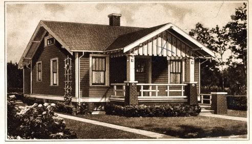 Sears Dundee from the 1928 Modern Homes catalog @ Sears Homes of Chicagoland