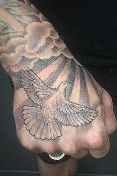 Hand Dove Tattoo