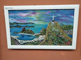 Therezinha Hillal 14 de outubro às 18:38 LINDA paisagem, entardecer na Baia da Guanabara. Obra pintada com a BOCA PELO TALENTOSO ARTISTA JEFFERSON MAIA. ESTÅ exposta no SALÃO BRASIL BELEZA E CORES da SBBA IMPORTANTE PREMIAÇÃO PARABENS