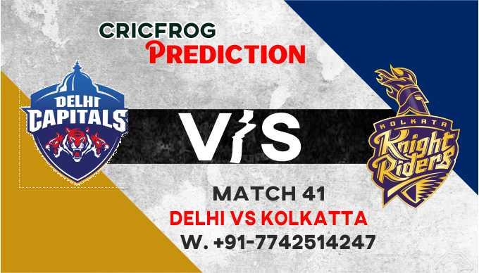 Delhi vs Kolkatta IPL T20 41st Match Today 100% Match Prediction Who will win - Cricfrog