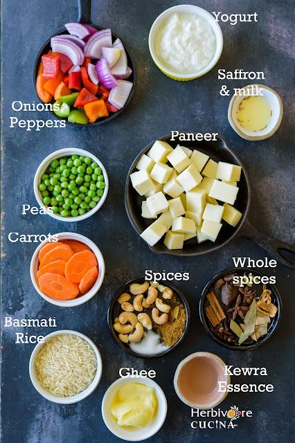 Easy-Paneer-Vegetable-Biryani-Ingredients