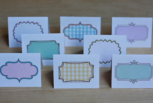 Crafty image pertaining to place card printable