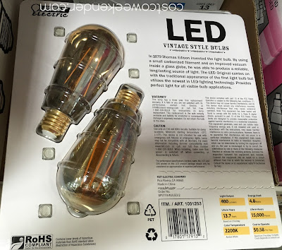 Costco 1051253 - Feit Electric 40 Watt LED Vintage Style Bulbs - great for any living area in your house