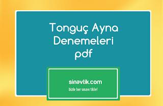 Tonguç Ayna Denemeleri pdf