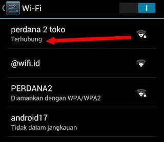 kekuatan sinyal wifi android