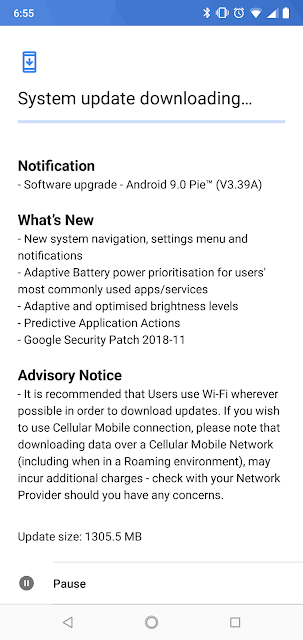 Nokia 7.1 receiving Android Pie