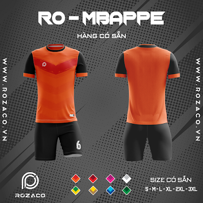 Áo Không Logo Rozaco RO-MBAPPE Màu Cam