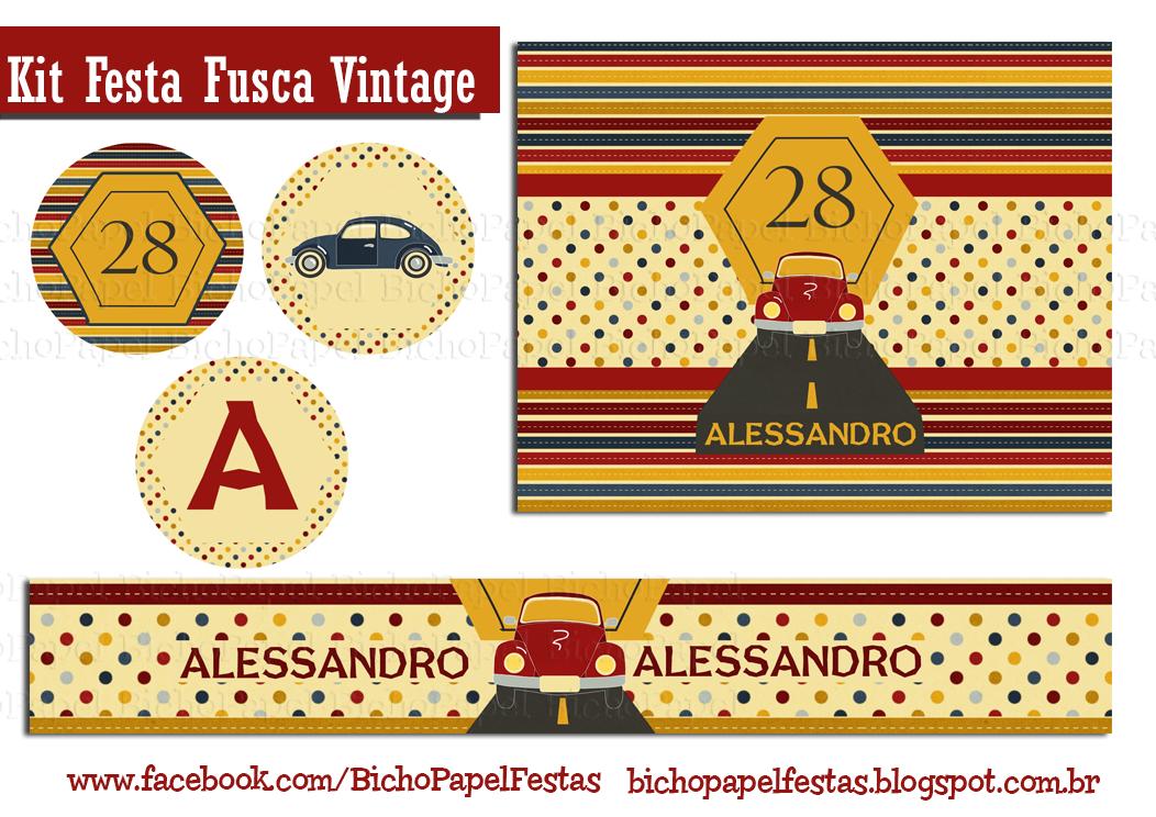 Kit Festa Fusca Vintage
