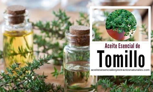 El aceite esencial de tomillo tiene propiedades astringente, antiséptico