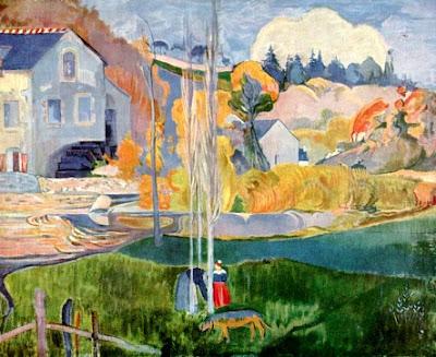 Foto a la pintura Molino de Agua en Pont-Aven de Paul Gauguin