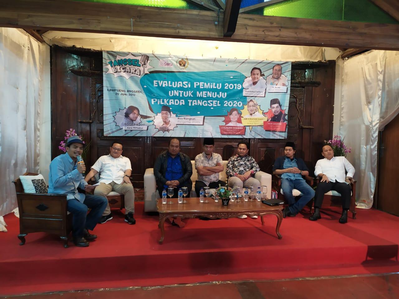 """PWI Bersama SMSI Kota Tangsel Gelar Diskusi Publik Bertema """"Evaluasi Pemilu 2019 Untuk Menuju Pilkada Tangsel 2020"""""""