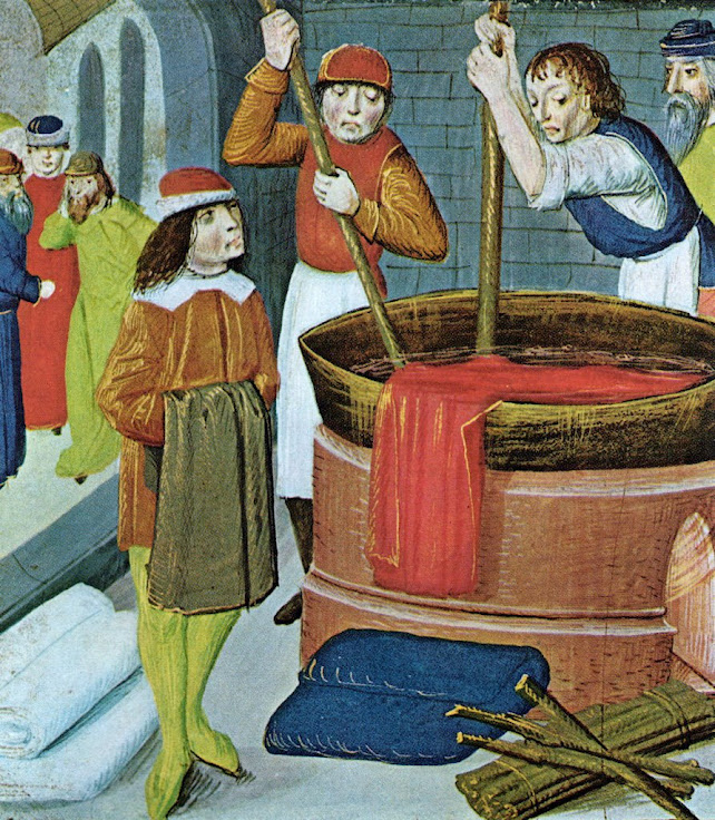 Tintureiros na Idade Média