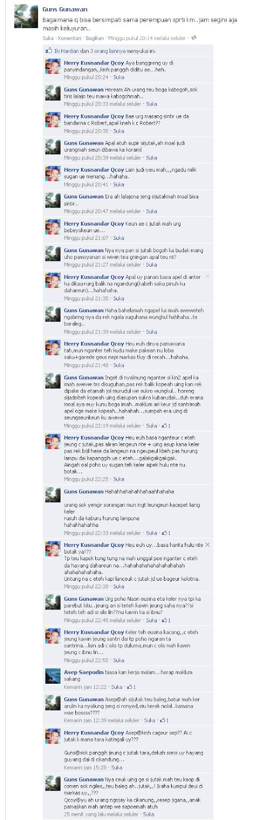 Nyunda Blogna Aki Jeung Abah Ngobrol Di FB Nu Paling Seru