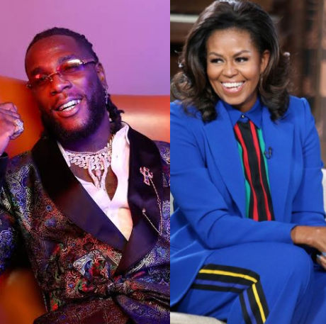 Michelle Obama lists Burna Boy's song 'My Money, My Baby' as one of the songs on her Workout play list