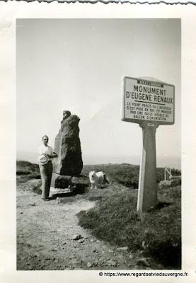 Eugene Renaux, sommet du Puy-de-Dôme.