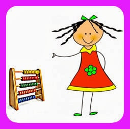 La niña aprende a contar y leer.