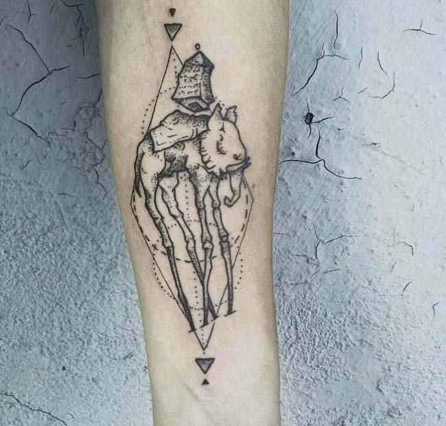 picasso elephant tattoo