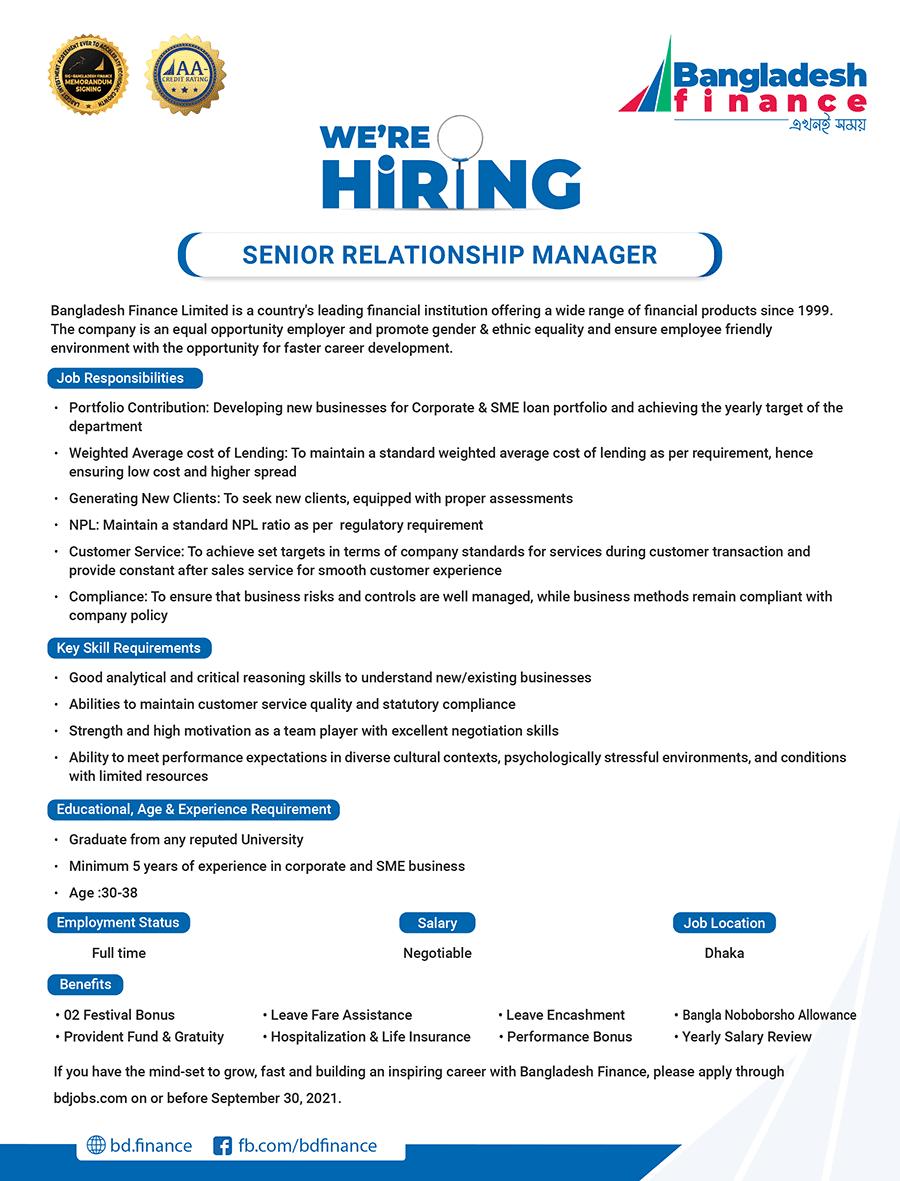 BD Finance Limited Job Circular image 2021